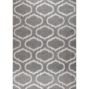 quaoar gray trellis area rug