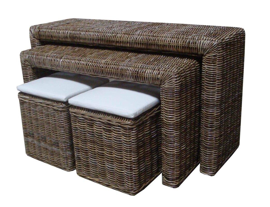 padmas plantation kubu  piece nesting console table set with   - defaultname