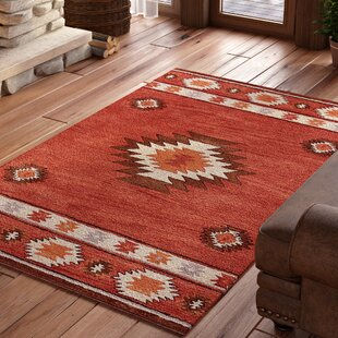 Joshua Hand Tufted Red Wine Area Rug