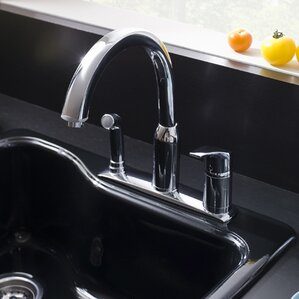 American Standard Arch Single Handle Deck Mounted Kitchen Faucet with Spray
