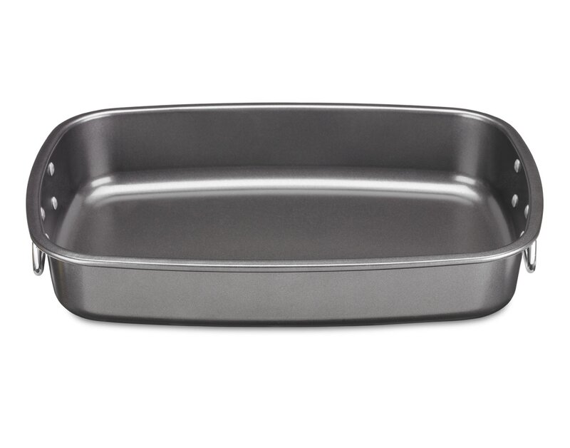cuisinart 17 carbon steel non stick roaster pan with rack reviews