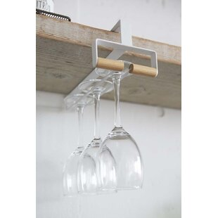 Under Shelf Wine Glass Rack Wayfair
