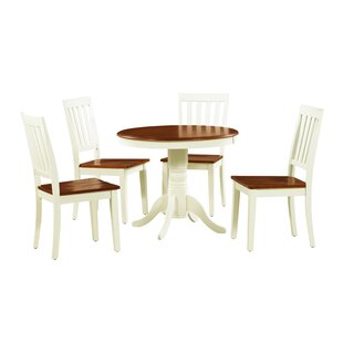 Erica 5 Piece Solid Wood Dining Set