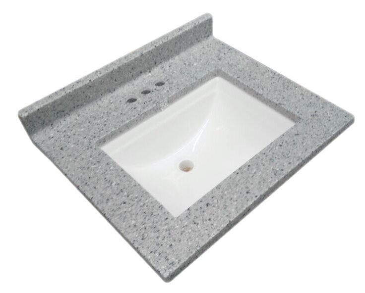 Wave Cultured Marble 37 Single Bathroom Vanity Top