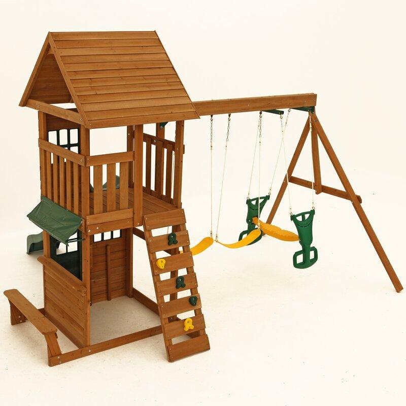KidKraft Windale Wooden Swing Set & Reviews