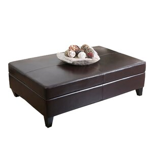 Mullenax Leather Ottoman by Andover Mills