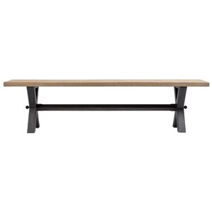 Christensen Wood and Metal Bench by Union Rustic