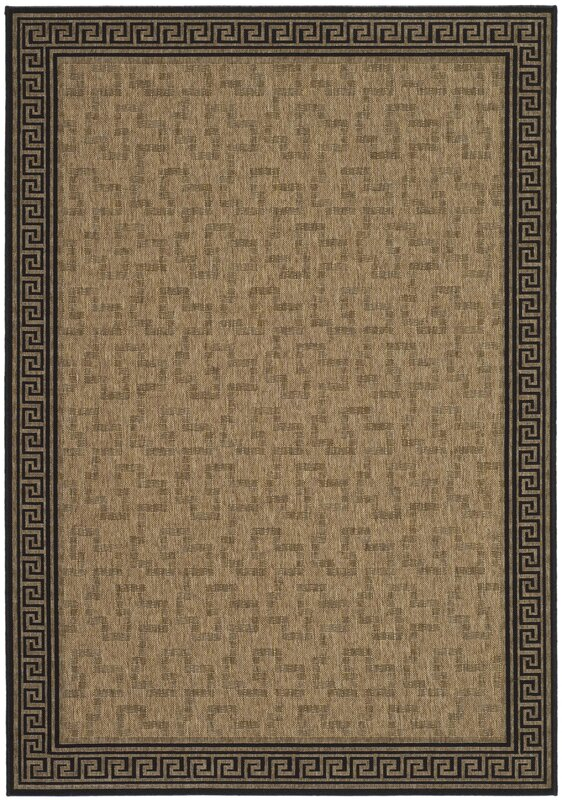martha stewart byzantium dark greek key beigeblack area rug