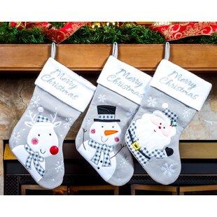 823f0b7b2 Silver Christmas Stockings You ll Love