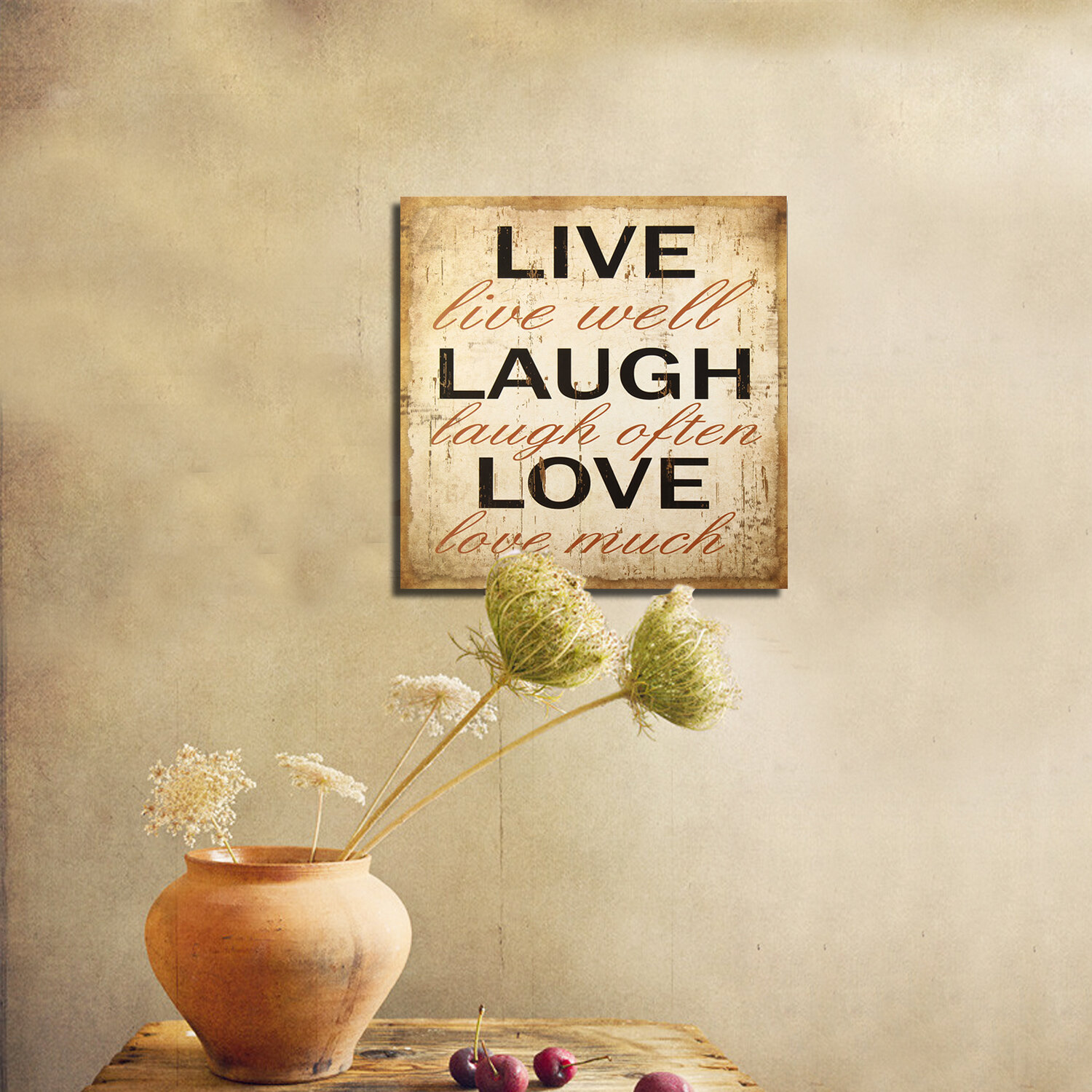 Delighted Live Love Laugh Sign Wall Art Gallery - The Wall Art ...