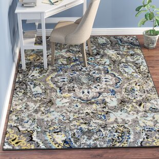 Stoneham Grey/Silver Rug by Andover Mills