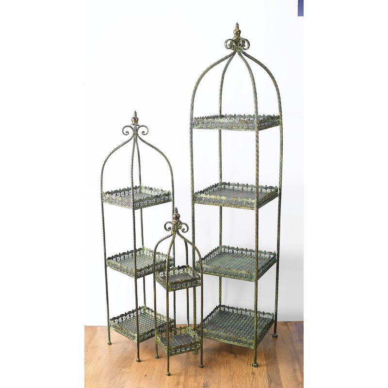 AA Importing 3 Piece Plant Stand Set