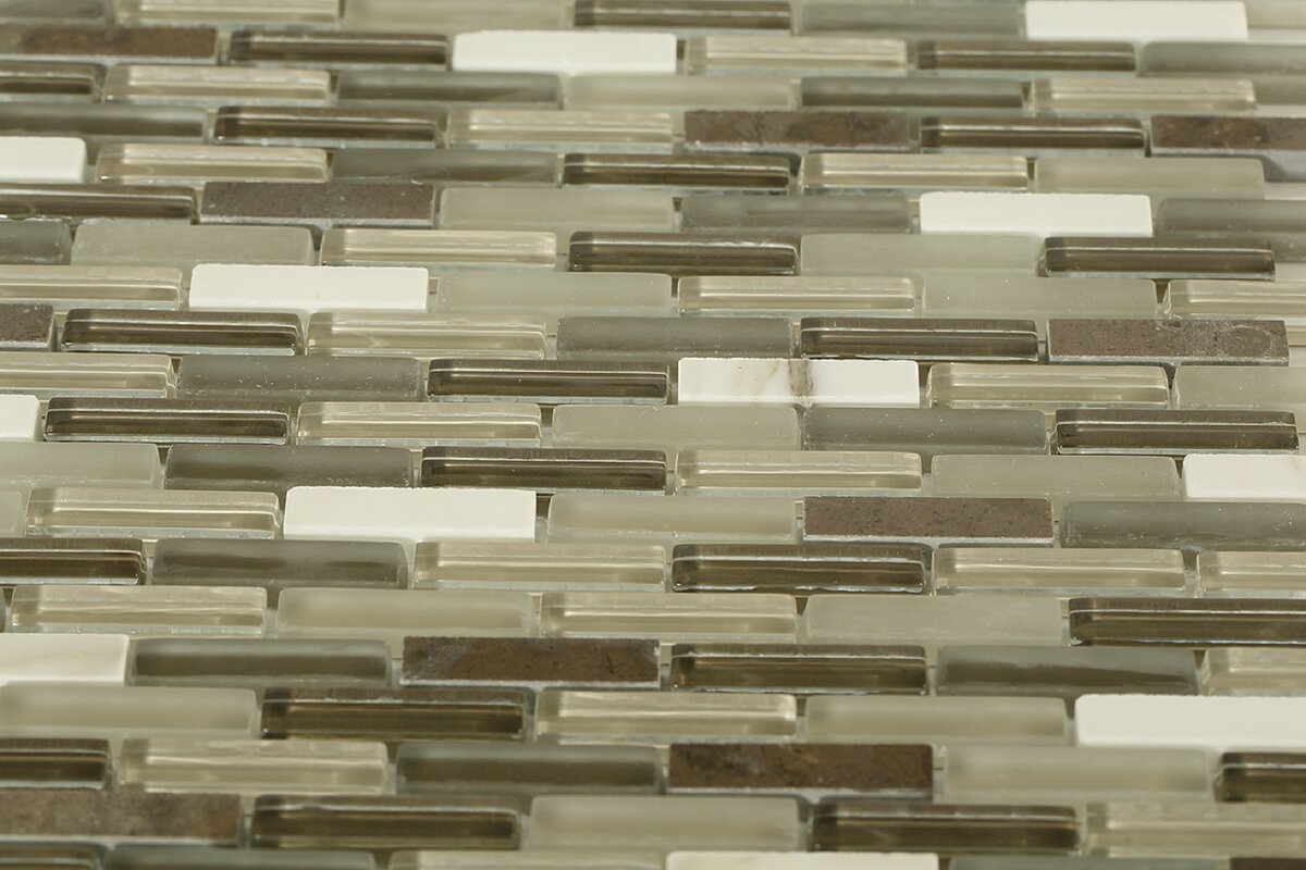 Cleveland 0 5 X 1 Gl Marble Mosaic Tile In Frosted Brown Dark