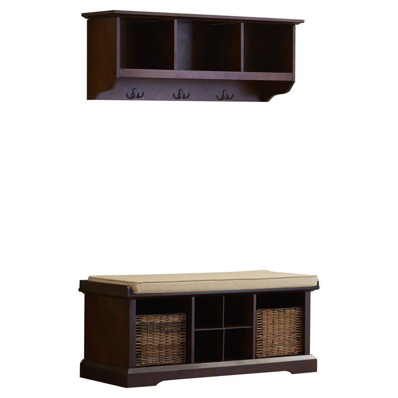 nijmegen and leather storage modern furniture with shelf farmhouse foundry pdx bench laurel faux