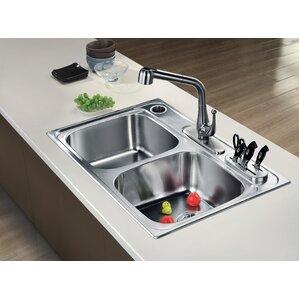 Stainless napkin holder all kitchen sinks wayfair 33 x 22 top mount equal double bowl kitchen sink workwithnaturefo