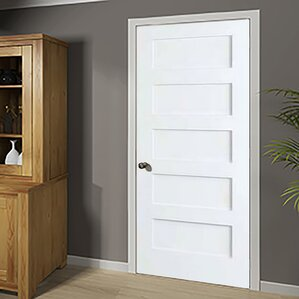 Shaker Solid Wood 5 Panel Wood Slab Interior Door