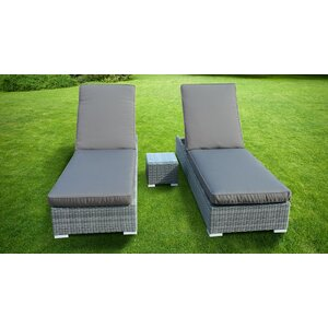 Sandringham Double Sun Lounger Set With Cushion And Table