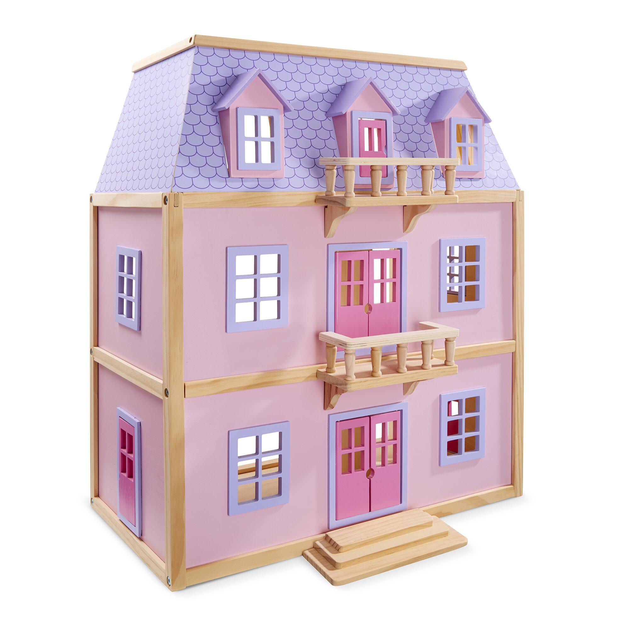 Melissa & Doug Wood Furnished Mansion & Reviews | Wayfair