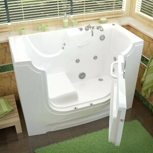 whirlpool tub. HandiTub 60  x 30 Walk In Whirlpool Bathtub Tubs You ll Love Wayfair