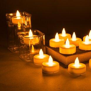 5f6b77ea10e1 Flameless LED Unscented Tealight Candle (Set of 24)