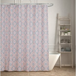 Contemporary Geometric Medallion Shower Curtain