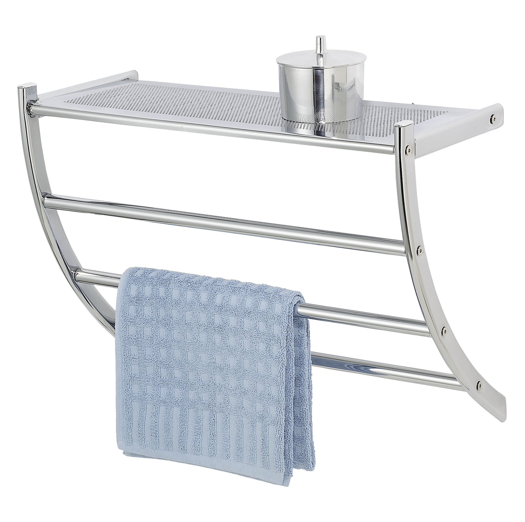 Wenko Pescara Wall Mounted Exclusive Shelf and Towel Rail & Reviews ...