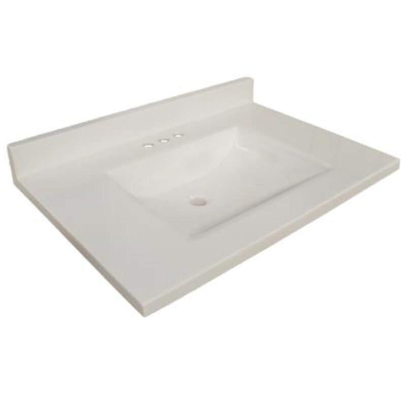 sink top for vanity. 31  Single Bathroom Vanity Top Tops You ll Love Wayfair