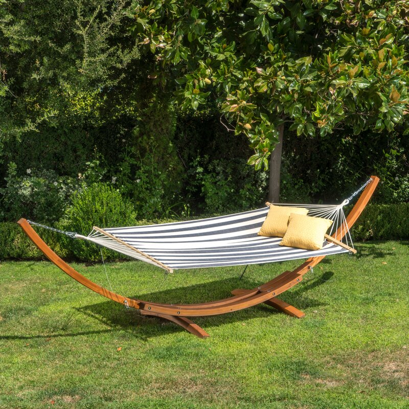 kouklia canvas hammock with stand kouklia canvas hammock with stand  u0026 reviews   allmodern  rh   allmodern