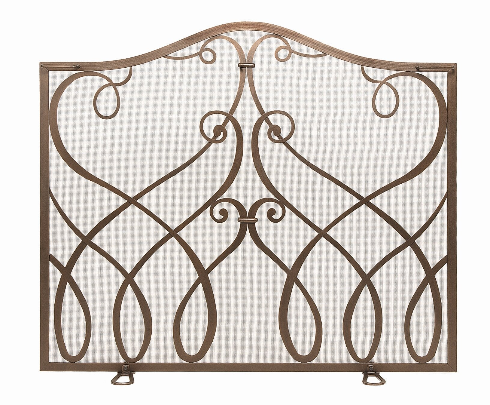 minuteman cypher single panel iron fireplace screen reviews wayfair rh wayfair com  minuteman fireplace screen with doors
