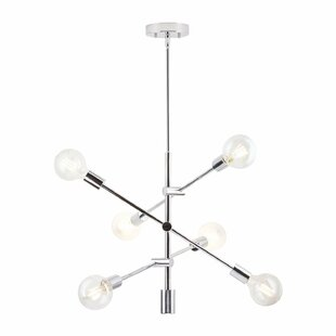 Modern contemporary chrome chandelier lighting allmodern save aloadofball Choice Image