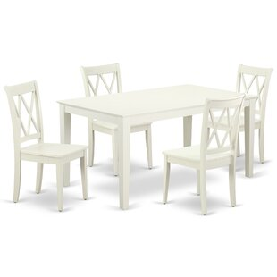 Kreger 5 Piece Solid Wood Dining Set
