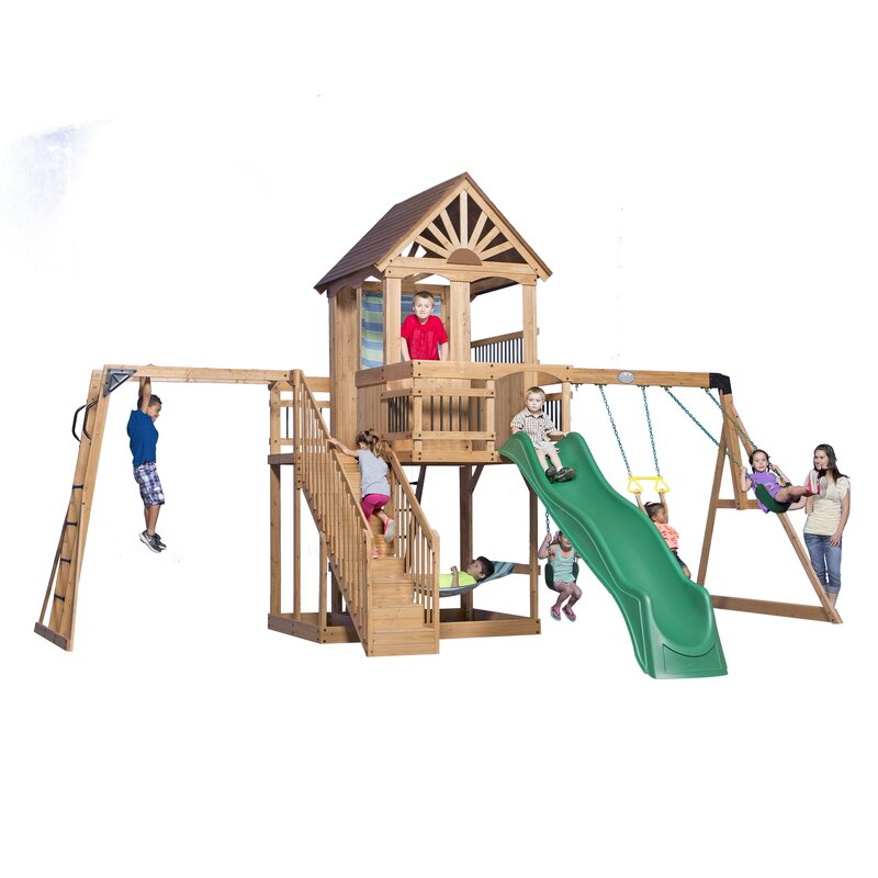 Backyard Discovery Oceanview All Cedar Swing Set Amp Reviews