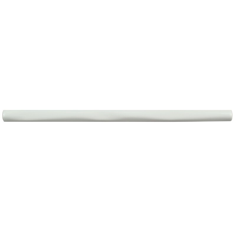 Elitetile Rugofo 0 5 X 8 Ceramic Pencil Liner Tile In Blanco