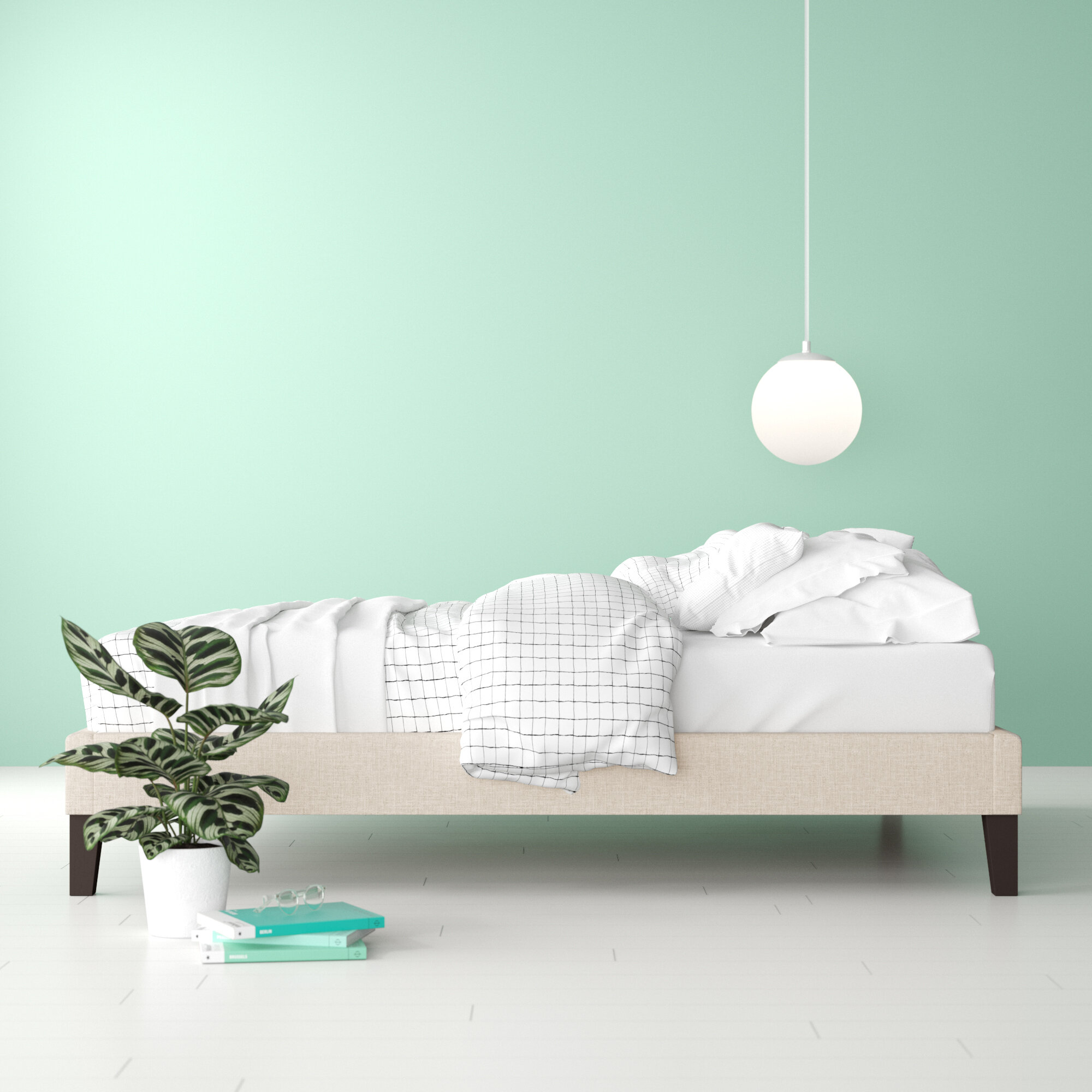 Superb Camdyn Upholstered Platform Bed Beutiful Home Inspiration Ommitmahrainfo