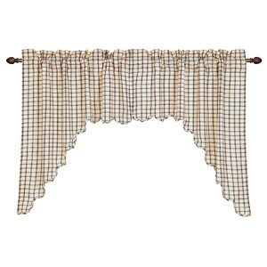 Patterson Scalloped Swag Curtain Valance (Set of 2)