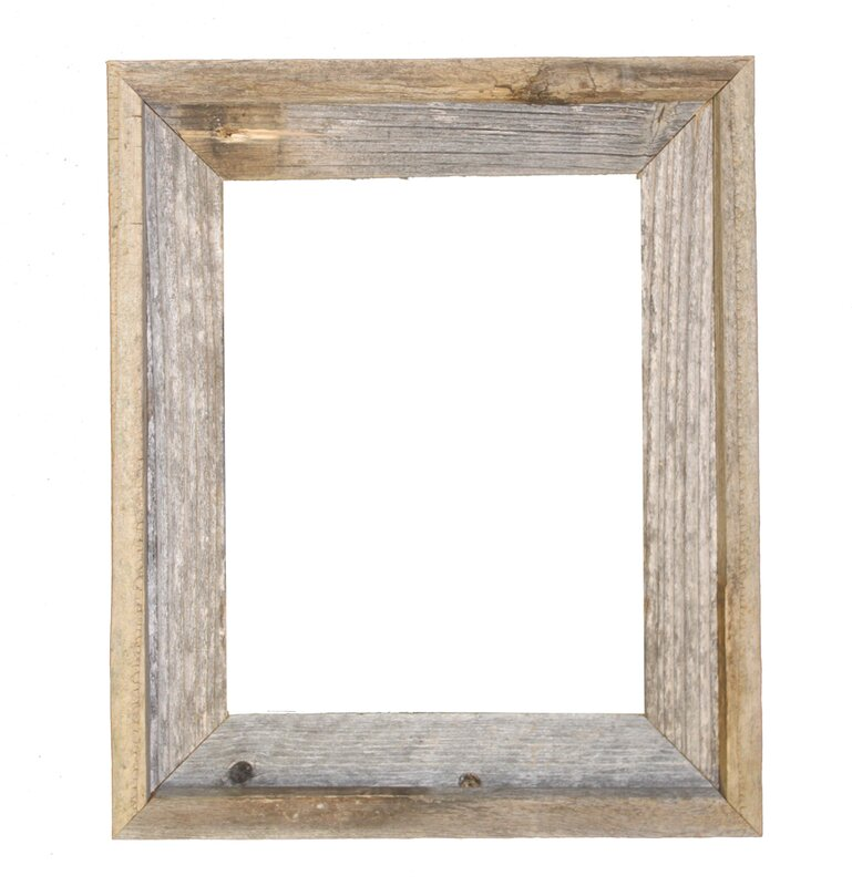reclaimed barn wood open picture frame
