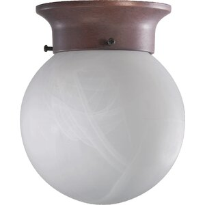 1-Light Semi Flush Mount