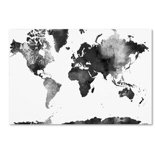World map canvas kids wayfair world map bg 1 by marlene watson graphic art on wrapped canvas gumiabroncs Gallery