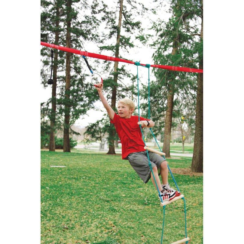dbd44b298 Slackers 8' Ninjaline Rope Ladder & Reviews   Wayfair