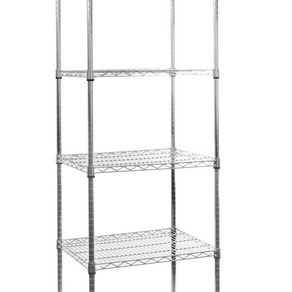 Wire Shelves With Wheels | Seville Classics 5 Tier Ultrazinc Nsf Steel Wire Shelving With