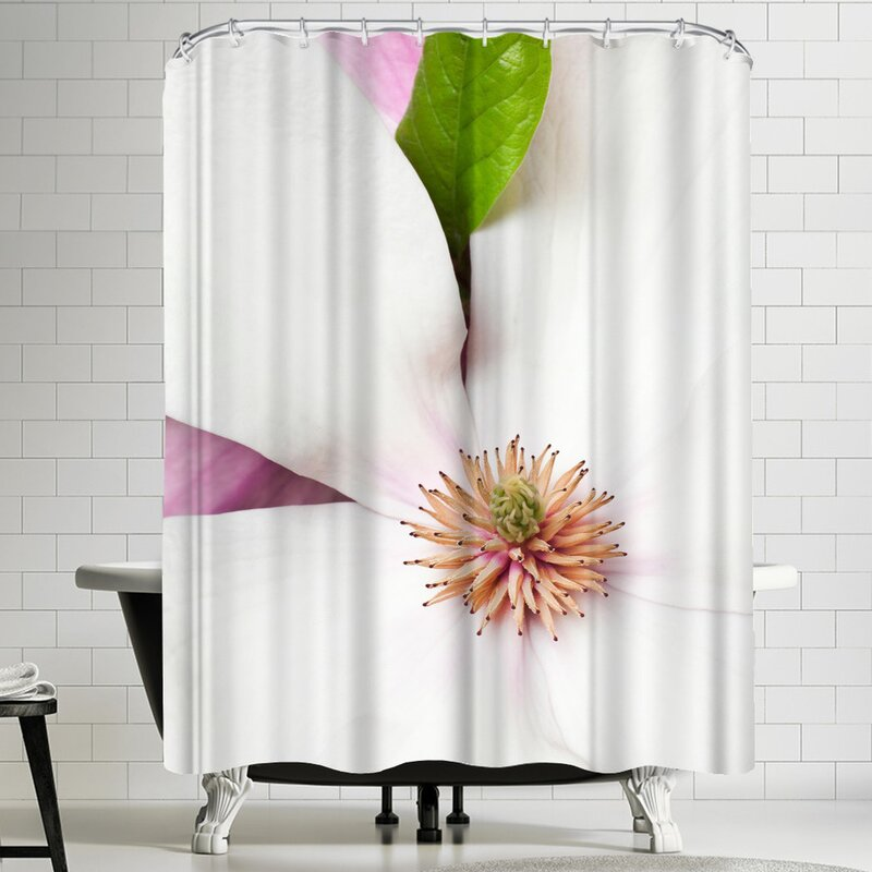 Maja Hrnjak White Magnolia Shower Curtain