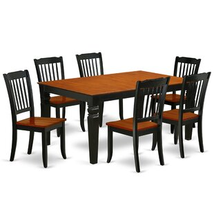Labarbera 7 Piece Extendable Solid Wood Dining Set