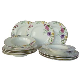 Wickersham 12 Piece Bone China Dinnerware Set Service for 6  sc 1 st  Wayfair & Fine China Dinner Sets | Wayfair.co.uk