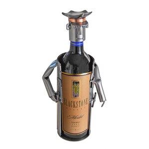 Policeman Caddy 1 Bottle Tabletop Wine Rack by H & K SCULPTURES