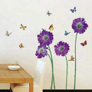 Purple Flower Wall Decal
