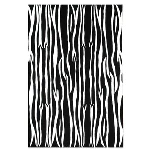 Order Contempo Black/White Area Rug By Acura Rugs