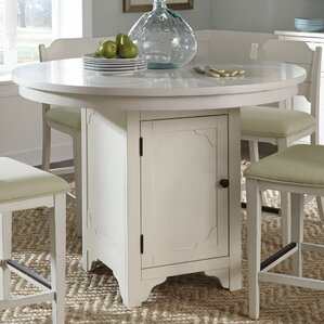 Aurora Round Counter Height Adjustable Pub Table by Laurel Foundry Modern Farmhouse
