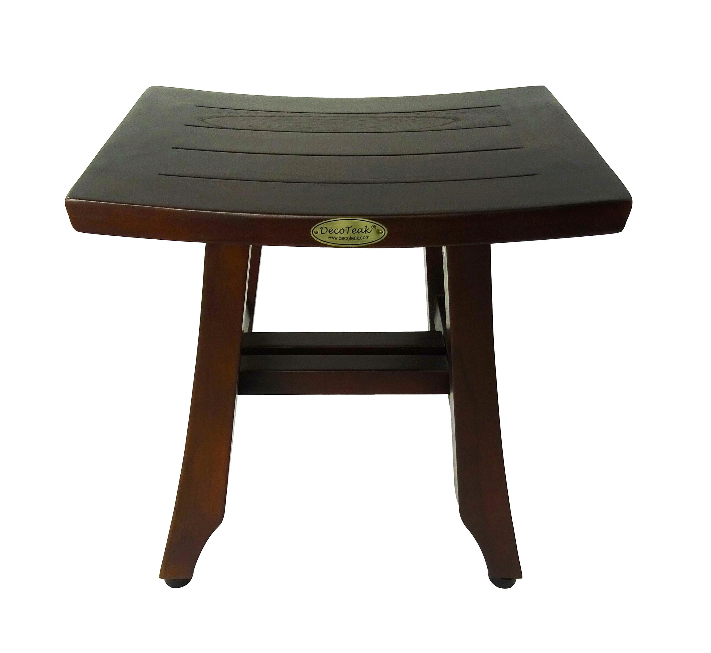 oceanstar p in bench shower storage solid teak wood chairs stool shelf with x spa stools color
