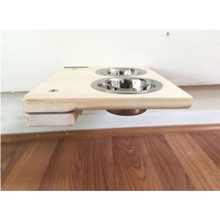 3 Cat Mod Feeder Handcrafted Elevated Wall Mounted Shelf Tree