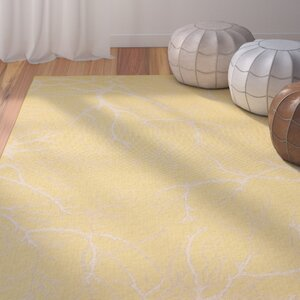 Fauna Yellow Outdoor Area Rug